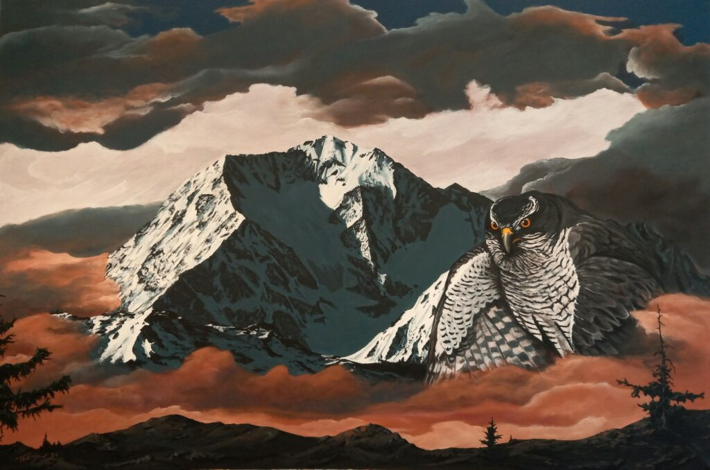Habicht - Acryl/Leinwand - 80x120cm
