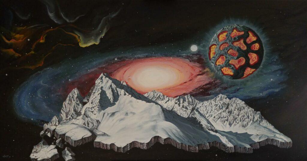 Der gebrochene Berg - Acryl/Leinwand - 90x170cm