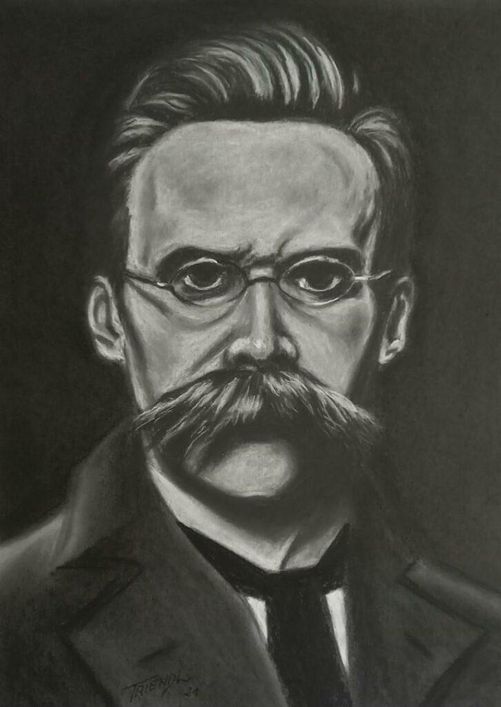 Friedrich Nietzsche - Kohle/Kreide - 30x40cm