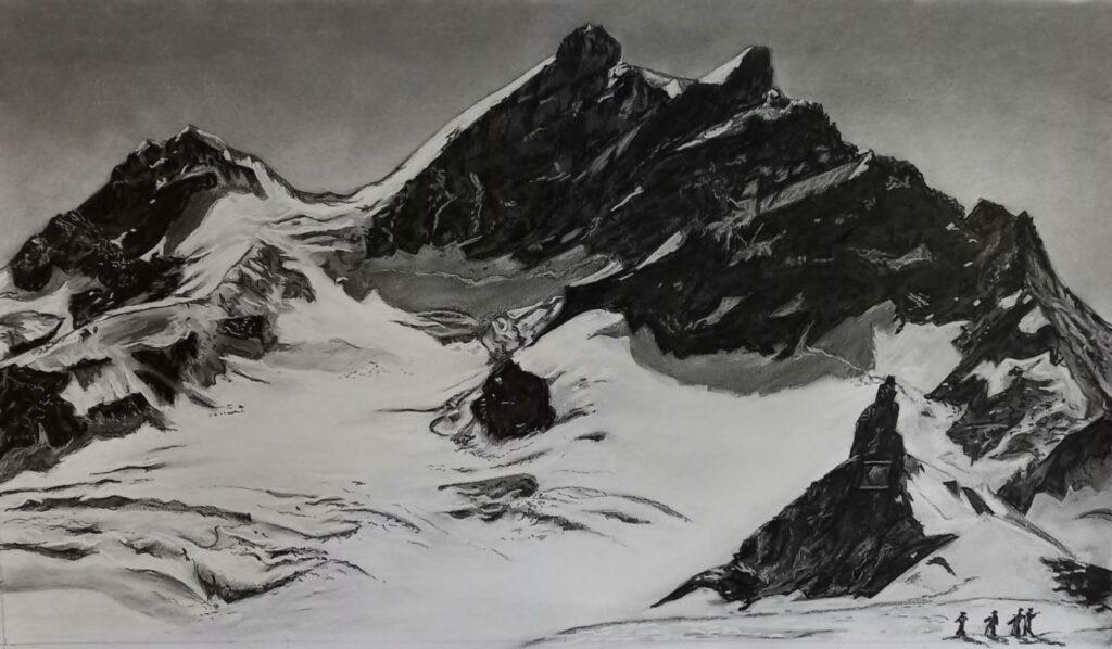 Jungfrau - Kohle/Kreide - 50x70cm