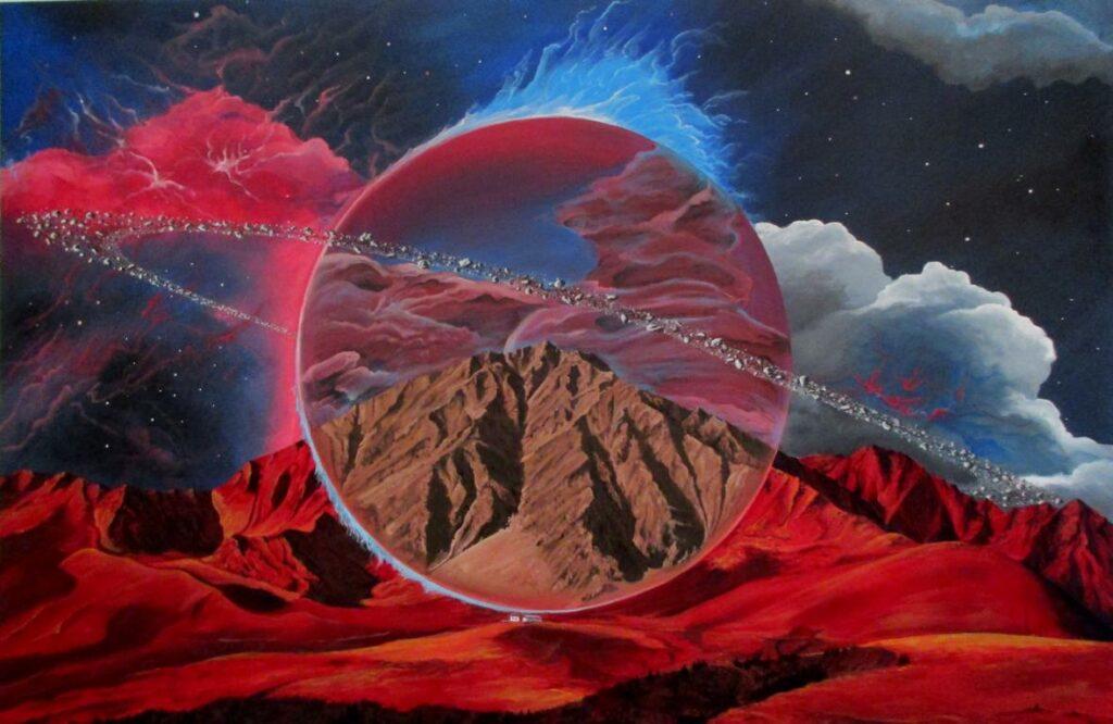 Der magische Planet - Acryl/Leinwand - 80x120cm