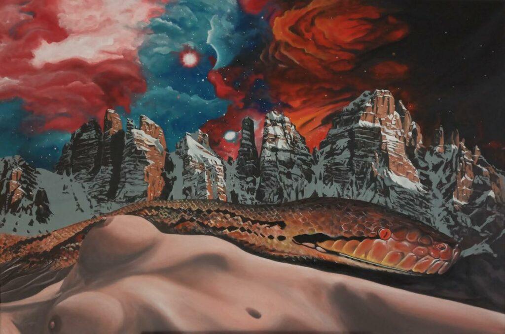 Vertreibung aus dem Paradies - Acryl/Leinwand - 80x120cm