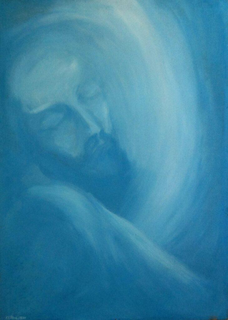 Christus 1978 - Acryl/Holz - 85x120cm