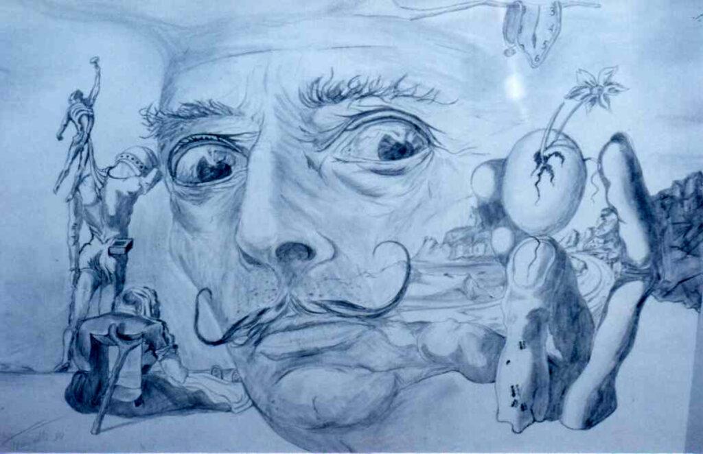 Salvador Dali - Bleistift/Karton - 50x70cm