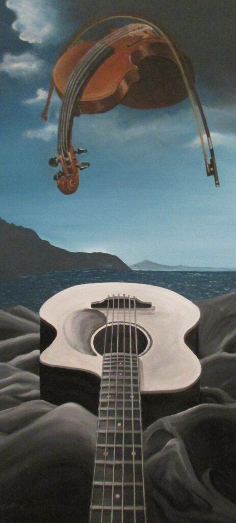 Musikerhimmel - Acryl/Heizpanel