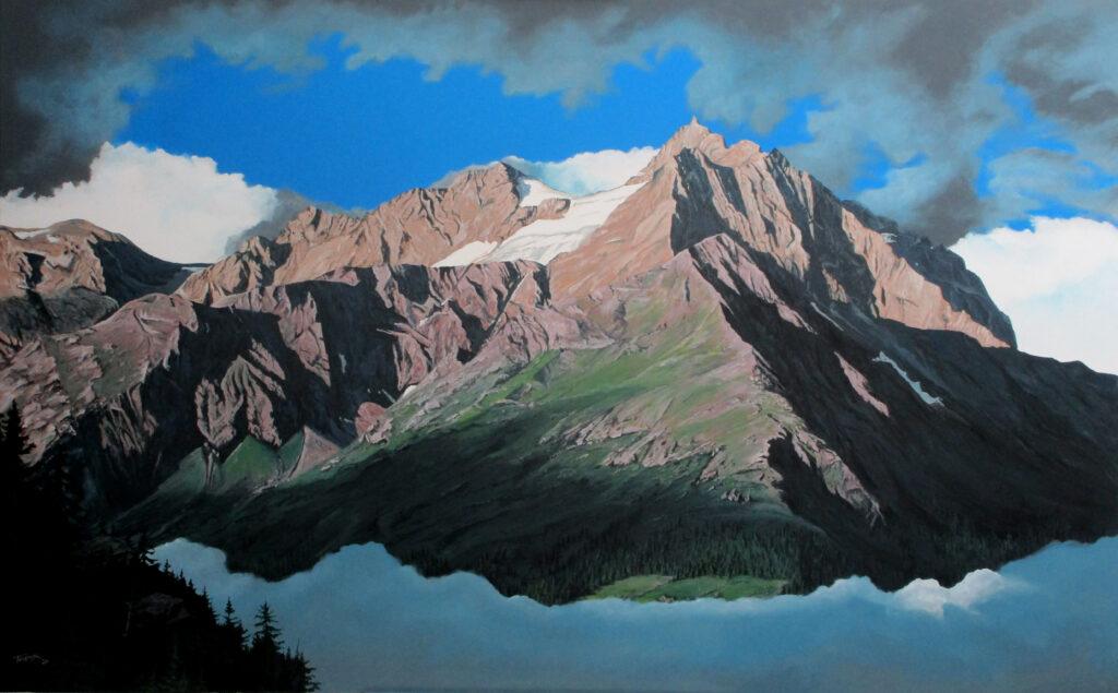 Hoher Riffler -  Acryl/Leinwand - 80x140cm