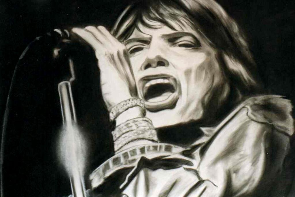 Mick Jagger - Acryl/Karton - 50x70cm
