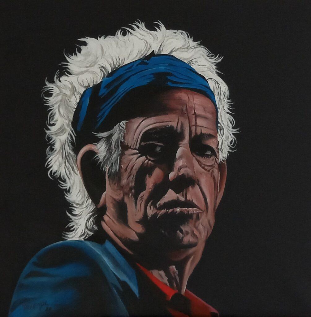 Keith Richards - Acryl/Leinwand - 50x50cm