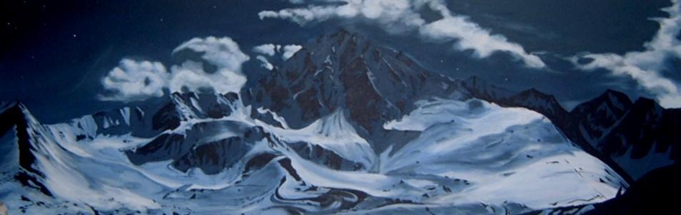 Nachtkogel - Acryl/Leinwand - 80x160cm