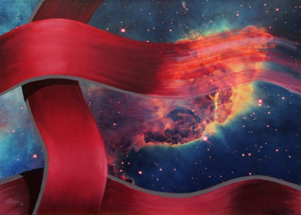 Kosmische Matrix - Acryl/Leinwand - 50x70cm