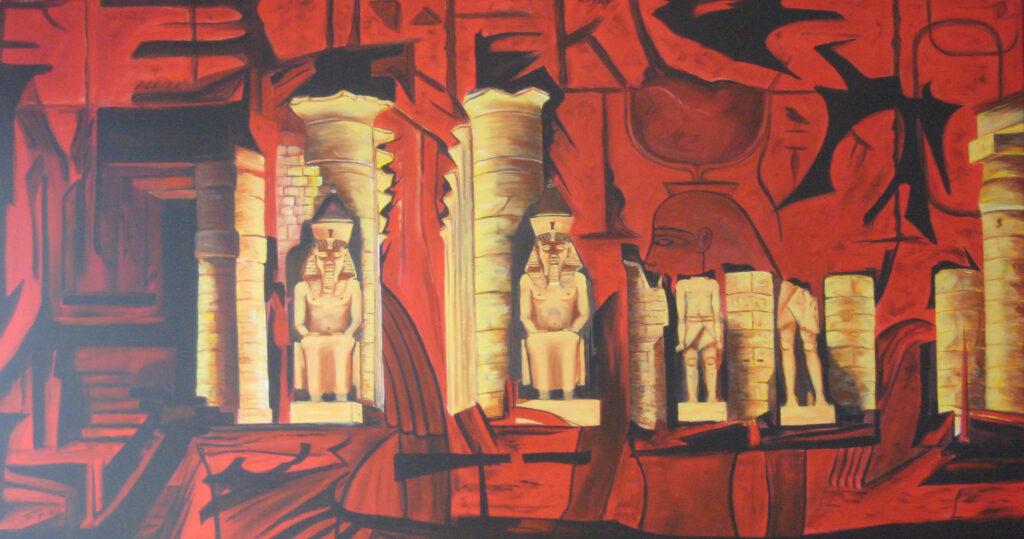 Luxor Tempel - Acryl/Leinwand - 90x170cm