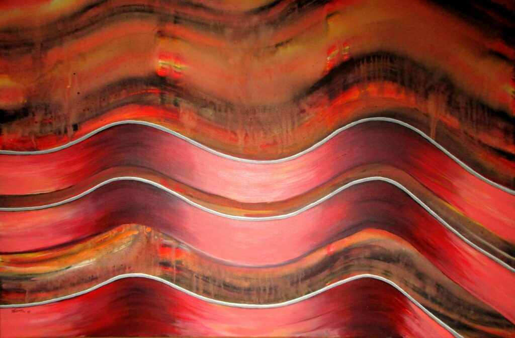 Matrixwelle - Acryl/Leinwand - 80x100cm