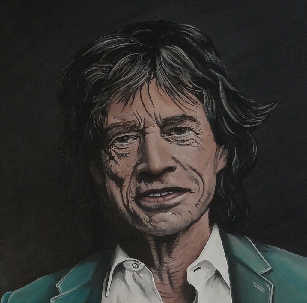 Mick Jagger - Acryl/Leinwand - 50x50cm