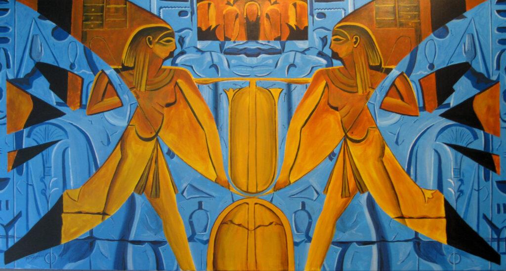 Nilgötter - Acryl/Leinwand - 90x170cm