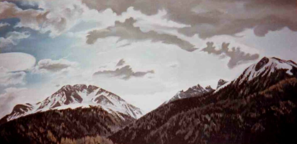Föhnhimmel - Öl/Leinwand - 80x180cm