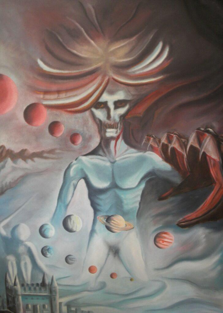 Regierende Gottheit - Öl/Leinwand - 120x160cm