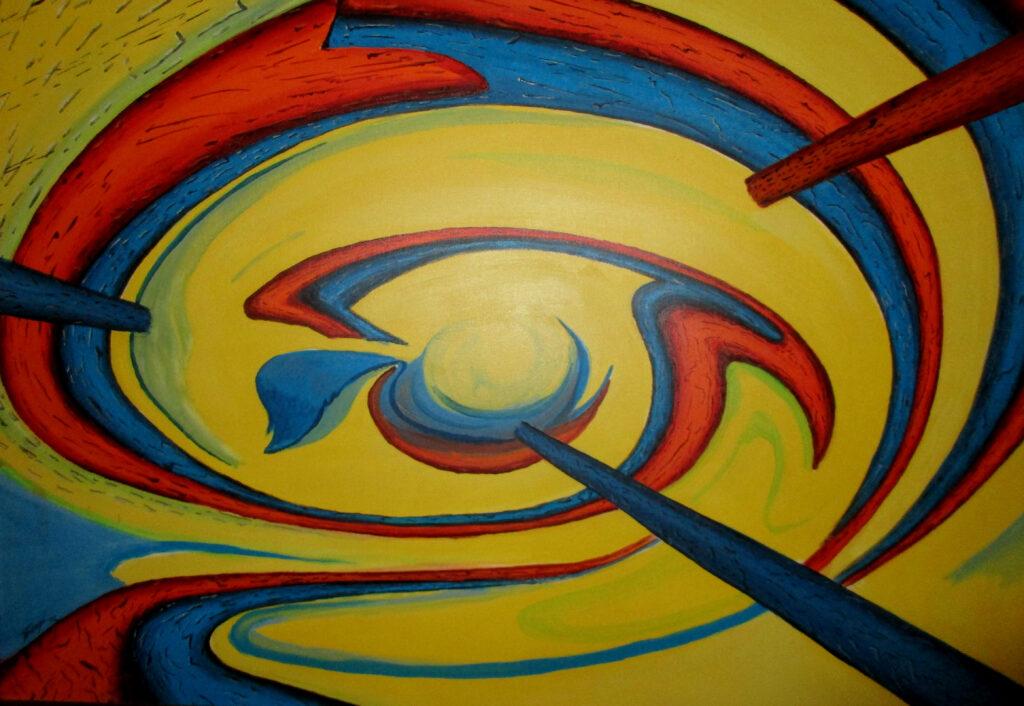 Trip dich on 2 - Acryl/Leinwand - 80x100cm
