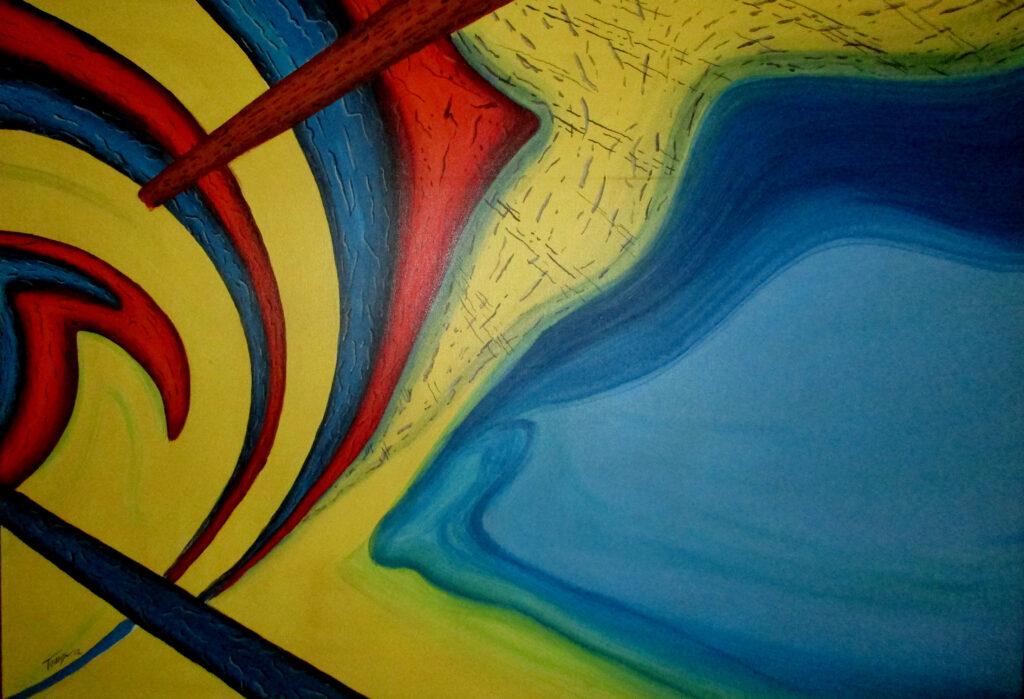 Trip dich on 3 - Acryl/Leinwand - 60x80cm