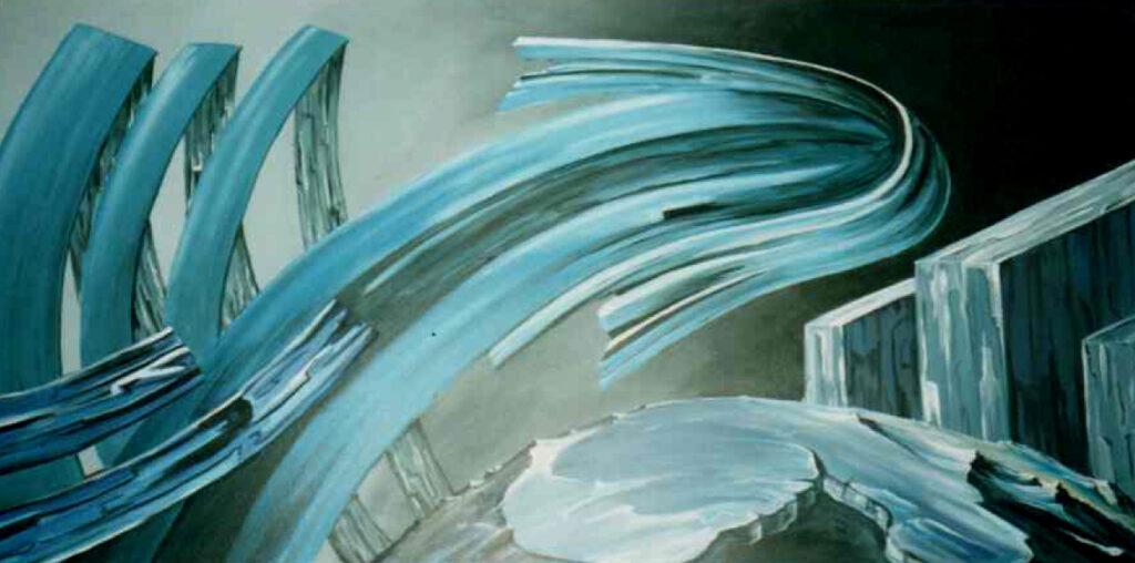 Zeitpfeil - Acryl/Leinwand - 80x160cm